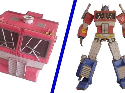 DIY How To Make OPTIMUS PRIME of Cardboard Transformer (action figure) part 2.6