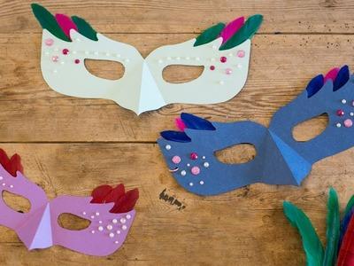 DIY : Make festive masquerade masks by Søstrene Grene