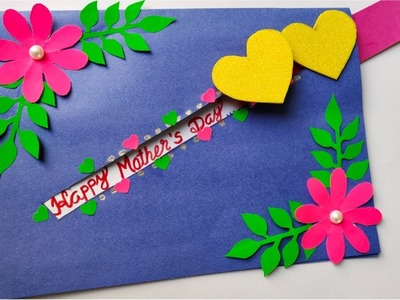 DIY Mother's day card, Handmade Mother' day card. Woman's day card