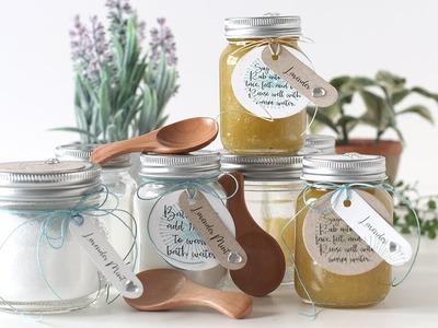 DIY Soothing Bath Salt and Sugar Scrub with Shari Carroll