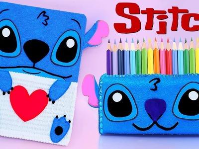 DIY STITCH SCHOOL SUPPLIES (Notebook and Pencil Case)