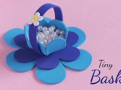 DIY Tiny basket | Gift Basket Ideas | Foam Crafts