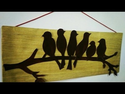 DIY Wall Decor | diy Wall Hanging | Paper Bird Wall Hanging | Cardboard Wall Decor | artmypassion
