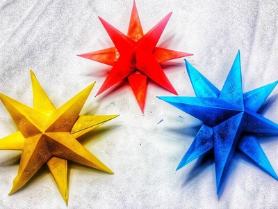 Origami|Origami star for christmas|Paper Star For Christmas|Stop Motion Lover