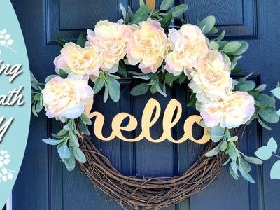Peony Wreath   Spring DIY