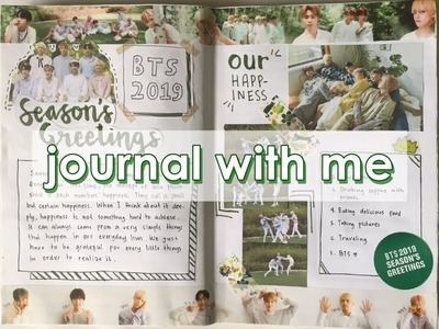 BTS Season's Greetings 2019 Spread | Kpop Journal With Me #2