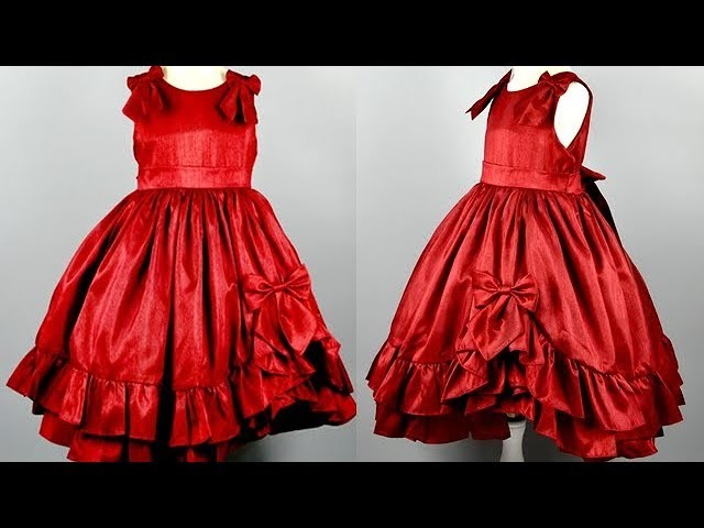 DIY Designer Ruffled Baby Frock With Simple Easy Steps At Home