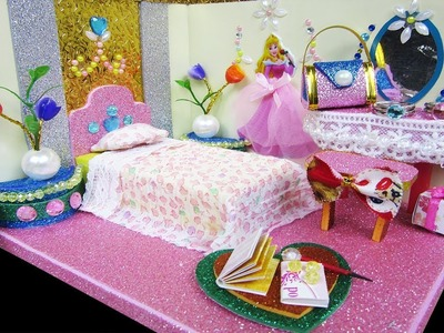DIY Miniature Dollhouse Room ~ Cinderella Room Decor