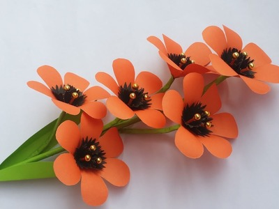 DIY: Paper Flower Stick!!! How to Make Beautiful Paper Flower Stick for home decoration!!!