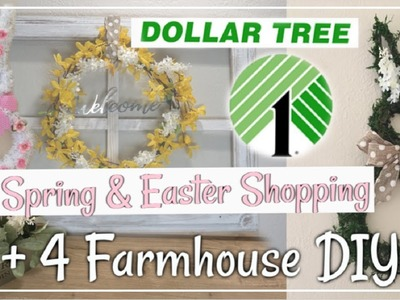 Dollar Tree Farmhouse DIYs + Dollar Tree Shop With Me | Spring & Easter DIY Decor Momma From Scratch