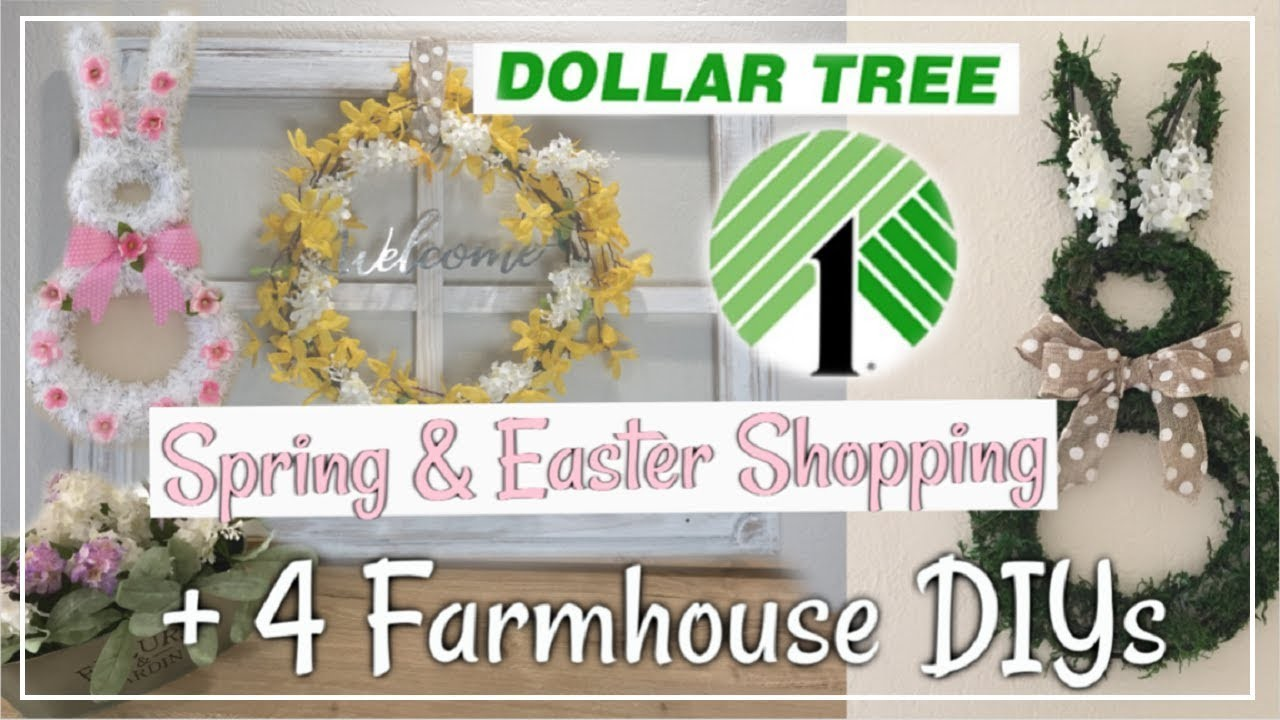 Dollar Tree Farmhouse DIYs + Dollar Tree Shop With Me | Spring & Easter DIY Decor Momma From Scratch