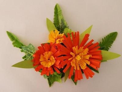 Door decoration flowers DIY quilling papercraft flower Türdekoration Blumen