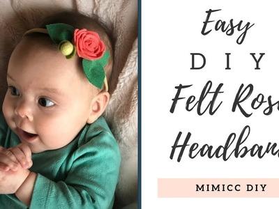 Easy DIY Felt Rose Headband