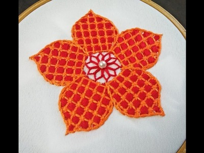 Hand Embroidery | Checkered Stitch Hand Embroidery | Elegant Hand Embroidery For Beginners