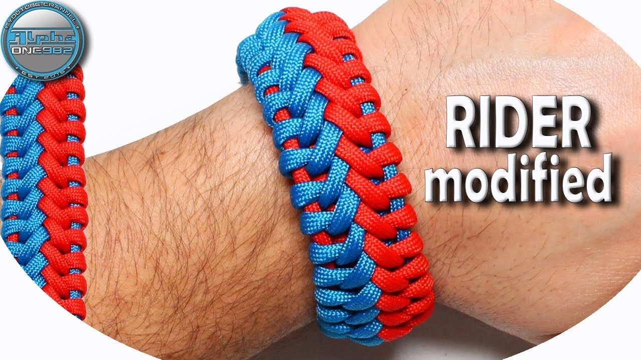 How to make Paracord bracelet Rider modified World of Paracord Tutorial DIY Paracord Bracelet