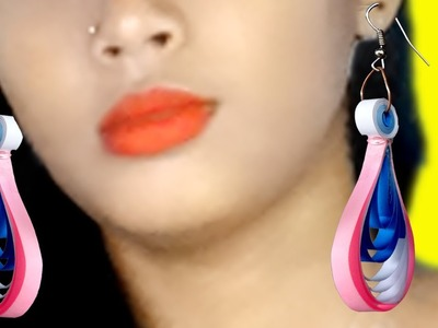 Make Quilling paper Earrings For girls | how to make quilling paper earrings |
