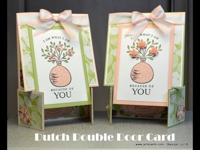 No.458 - Dutch Fold Card - JanB UK #7 Top Stampin' Up! Independent Demonstrator