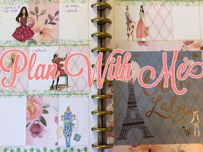 Plan With Me | Paris Theme | Happy Planner