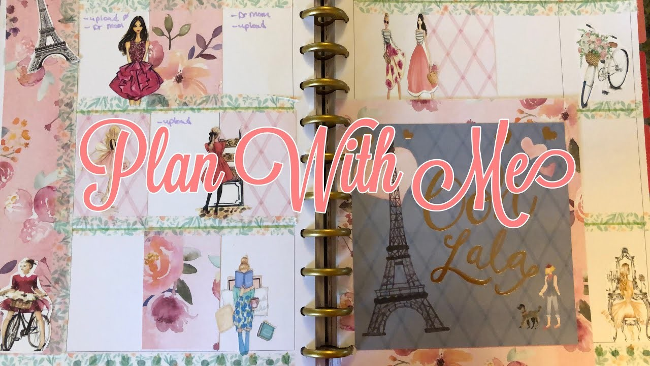 Plan With Me   Paris Theme   Happy Planner