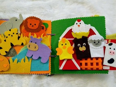 Quiet Book.Busy Book no sew, activities for 1 to 2 years old