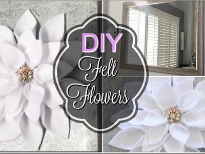 SPRING DIY FLORAL CHALLENGE. DIY CANVAS FELT FLOWERS