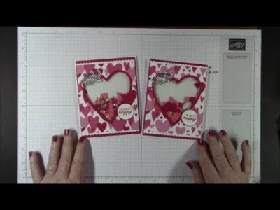 Stampin' Up! Meant To Be Fun Valentine's Day Shaker Card