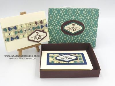 5 x Note Card Gift Box Using True Gentleman Suite
