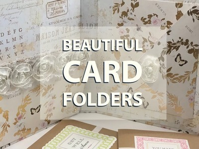 BEAUTIFUL CARD FOLDER - HOW TO MAKE