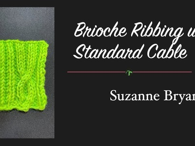 Brioche Ribbing Combined with Standard Cable