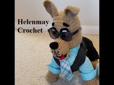 Crochet Great Dane Puppy Dog Part 2 of 2 DIY Video Tutorial