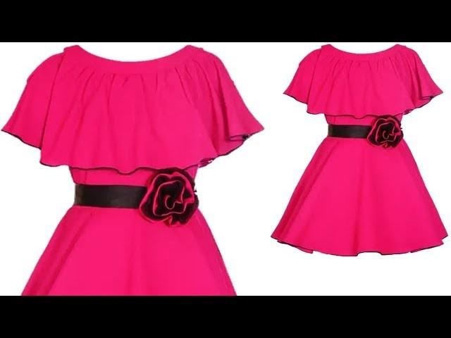 Designer Baby Cape Dress For 4 Year baby Girl Full Tutorial
