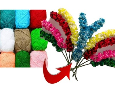 Flower bunches making with wool | very simple and easy