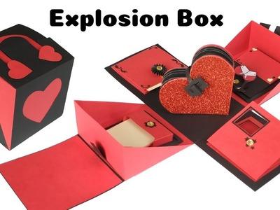 Handmade Explosion Box for valentines day | Valentines Day Gift Idea for boyfriend