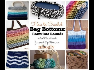 How to Crochet: Bag Bottoms: Rows to Rounds (Left Handed)