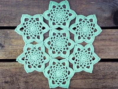 How To Crochet Very Easy Motif Doily