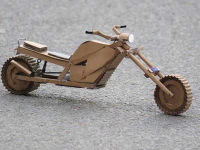 How to make a motorbike - cardboard bike - battery bike