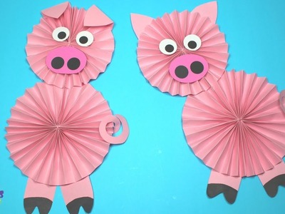 How to Make a Paper Pig | Year of The Pig Crafts for Kids