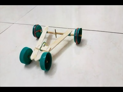 How To Make A Rubber Band Car Easily