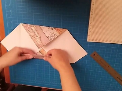How to make a square card stock box