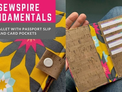 How to sew The Pixie Wallet with Passport Slip and Card Pockets by Sewspire