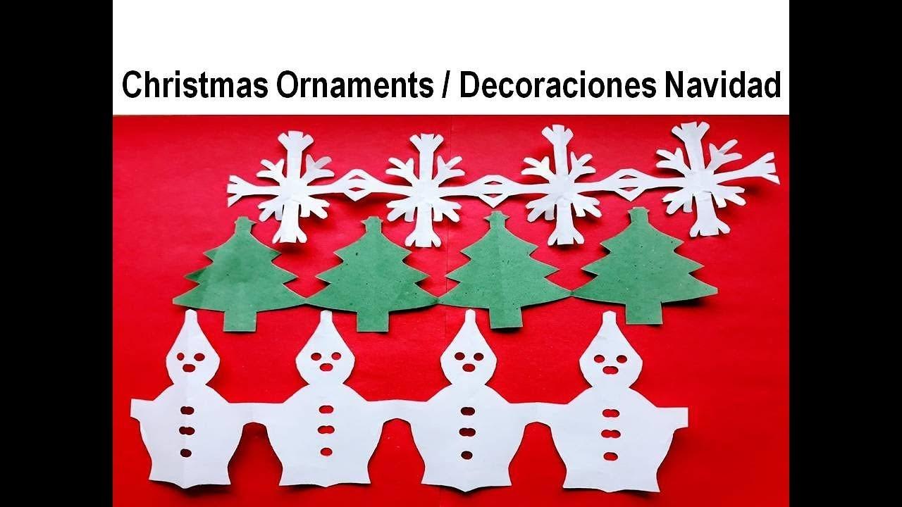 Kirigami #Christmas Decoration - Decoraciones para Navidad