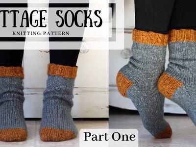 Knit Socks Magic Loop Method Part One - The Cottage Socks (Body, Heel Flap, Heel Turn)