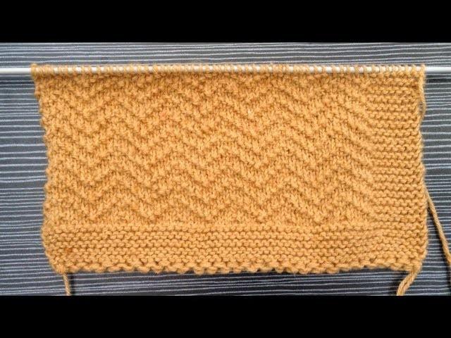 Knitting Pattern.Zigzag Seed Stitch Pattern for Cardigan, Blanket,Shawl
