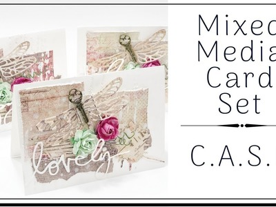 {TUTORIAL} EASY MIXED MEDIA CARD SET | MAKE YOUR OWN | C.A.S.E.