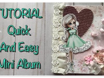 TUTORIAL | Quick And Easy Mini Album | POLKADOODLES