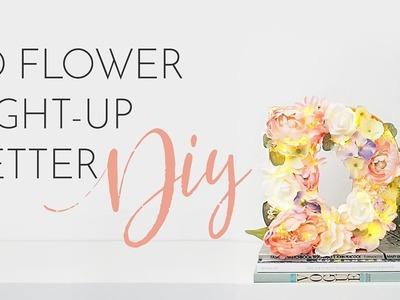 3D FLOWER LIGHT-UP LETTER DIY TUTORIAL | Bang On Style