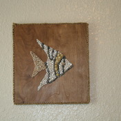 Angel Fish Mosaic Sea Shells