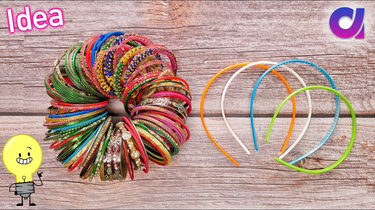Best out of waste Bangles & Hair band craft idea | DIY Home Decor | Artkala
