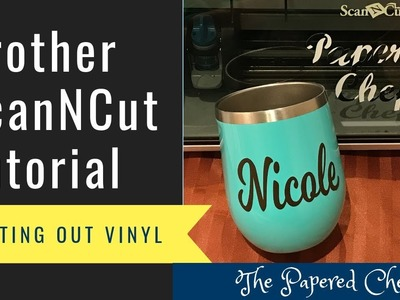 BrotherScanNCut Vinyl Coffee Mug - Personalize your Gifts with Vinyl - DIY Tutorial
