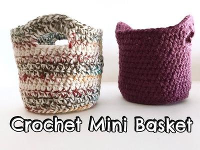 Crochet Mini Basket tutorial